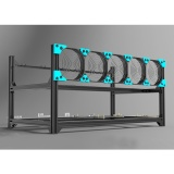 Buy 6 Gpu Aluminum Stackable Open Air Mining Case Computer Frame Rig Ethereum Black China