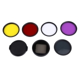 Buy 6 In 1 Proffesional 58Mm Lens Filter Cpl Uv Red Yellow Purple And Waterproof Housing Case Adapter Ring For Gopro Hero4 3 And Xiaomi Xiaoyi Yi Ii 4K Sport Action Camera Cheap On China