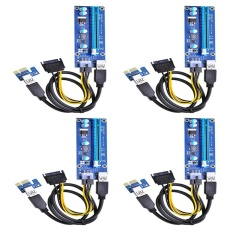 Sale 6 Pin Powered Pci E Pci Express Riser Card Ver 006C 1X To 16X Pcie Usb 3 Adapter Card With Usb Extension Cable Gpu Riser Extender Cable Currency Mining 4 Pack Intl China