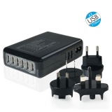 Coupon 6 Ports Multi Usb Charger Adapter Travel Wall Ac Power Supply Uk Eu Us Au Plug Intl