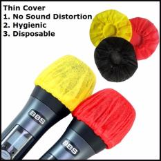 60 Disposable Thin Microphone Cover/ Microphone Foam(red And Yellow) Or (black) By Okonz.