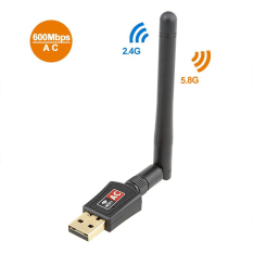 Retail Price 600Mbps Mini 802 11Ac Dual Band 2 4G 5 8G Wireless Network Adapter Usb Wi Fi Dongle Adapter With 2Dbi Antenna Intl