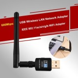 Sale 600Mbps Usb Wireless Lan Network Adapter 802 11Ac A N G B Dual Band 2 4G 5G Wifi Dongle Intl On China