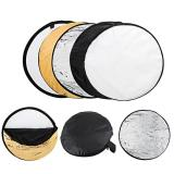 Best Price 60Cm Round 5 In 1 Photography Studio Photo Disc Collapsible Light Reflector