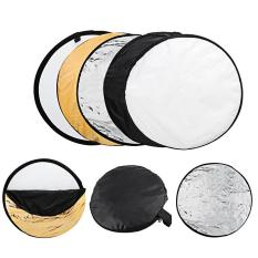 Discount 60Cm Round 5 In 1 Photography Studio Photo Disc Collapsible Light Reflector