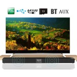 60W Wireless Bluetooth 3D Sound Bar Soundbar 8 Speaker Fm Radio Home Tv Theater Intl Coupon