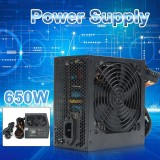 650W Psu Atx 12V Gaming Pc Power Supply 24Pin Molex Sata 650 Walt 12Cm Fan Intl On Line