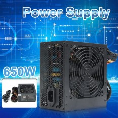 Buy 650W Psu Atx 12V Gaming Pc Power Supply 24Pin Molex Sata 650 Walt 12Cm Fan Intl Online
