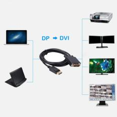6ft Display Port Dp Male To Dvi Male Cable Cord Adapter Gold Plated 1080p - Intl By Crystalawaking.