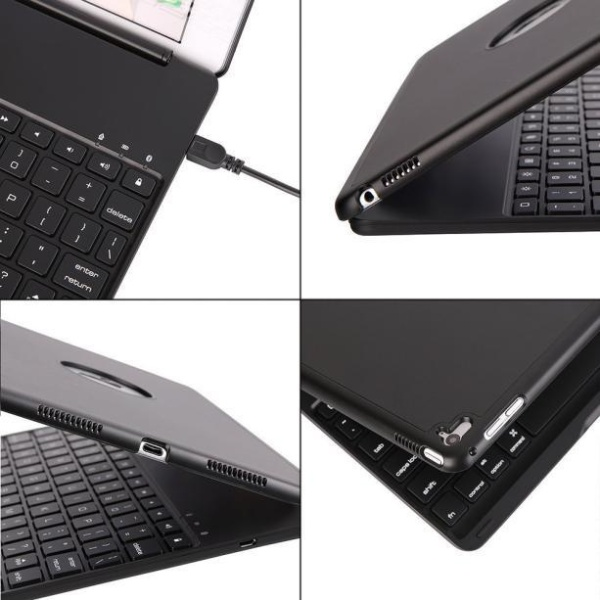 7 Colors Backlit Bluetooth Keyboard Smart Folio Case For iPad Pro 9.7inch BK Singapore