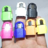 New 7 Pcs Lot Mini Cute Gift Universal Robot Shape Andriod Micro Usb Otg Host Adapter For Samsung Galaxy S3 4 Note 3 4 For Htc Intl