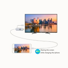 8 Digital Av Adapter 1080P Lightning To Hdmi Cable Withchargingport For Iphone And Ipad White Intl Compare Prices