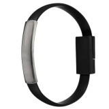 Price 8 Pin Micro Usb To Usb Cable Bracelet Charger Data Sync Cord Forandroid V8 Black Intl On China