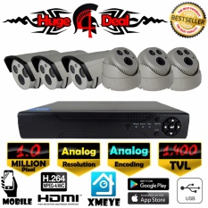 Who Sells The Cheapest 8Ch Analog Cctv 6 Pieces Bullet And Dome Camera 1400 Tvl Dvr Kit Set Analog Decoding Newest 2017 Infrared Model 1400 Tvl 960H 4Mm Lens Digital Video Recorder Free Adapter Free Camera Bracket Intl Online