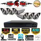 Buy Cheap 8Ch Full Hd Cctv Kit Set 6 Pieces Bullet Camera 2 2 Mp With Ahd Decoding Dvr New Exir 2017 Model 1080P 720P 4Mm Lens Digital Video Recorder Free Adapter Free Camera Bracket Intl