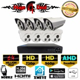 Cheapest 8Ch Hd Cctv 8 Pieces Bullet And Dome Camera 1 4 Mp Dvr Kit Set Ahd Decoding New Exir 2017 Model 720P 960P 4Mm Lens Digital Video Recorder Free Adapter Free Camera Bracket Intl