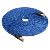 8M Durable Strong Cat 7 Cat7 Rj45 10Gbps Ethernet Flat Cable Lan Network Cord Blue Export Review