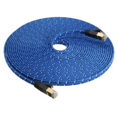8M Durable Strong Cat 7 Cat7 Rj45 10Gbps Ethernet Flat Cable Lan Network Cord Blue Export Discount Code
