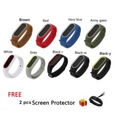 Wholesale 9 Color Silicone Wrist Band Strap For Mi Band 2 Miband 2