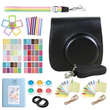 9 In 1 Camera Bundles Set Pu Leather Carrying Case Cover Album Self Portrait Mirror Colorful Close Up Lens Kit Accessories For Fujifilm Instax Mini 9 8 8 Model Instant Cameras Black Intl Shop
