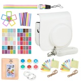 Where Can I Buy 9 In 1 Camera Bundles Set Pu Leather Carrying Case Cover Album Self Portrait Mirror Colorful Close Up Lens Kit Accessories For Fujifilm Instax Mini 9 8 8 Model Instant Cameras White Intl