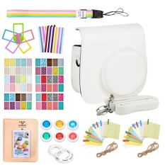 Lowest Price 9 In 1 Camera Bundles Set Pu Leather Carrying Case Cover Album Self Portrait Mirror Colorful Close Up Lens Kit Accessories For Fujifilm Instax Mini 9 8 8 Model Instant Cameras White Intl