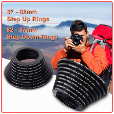 Best Buy 9X Step Up 9X Step Down Filter Ring Stepping Adapter 37 82Mm 82 37Mm