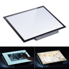 (FREE UK Plug)A3 47 * 37cm 21.4 inch LED Artist Stencil Board Tattoo Drawing Tracing Table Display Light Box Pad LED Copy Board Intelligent Touch Control 3 Adjustable Brightness Levels with Multifunction Holder - intl