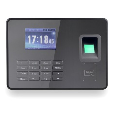 A8 Engineering Flagship Biometric Fingerprint Attendance Machine Employee Checking-in Recorder TCP/IP 2.8 inch LCD Screen DC 5V Time Attendance Clock - intl