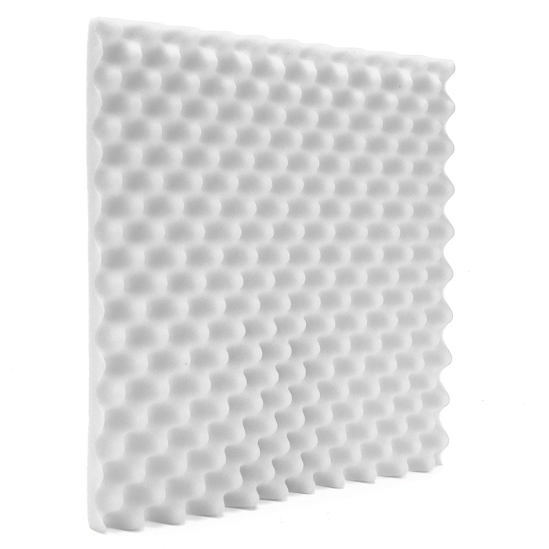 Acoustic Soundproof Sound Stop Absorption Studio Foam 500mmx500mmx50mm 1Pc White - intl Singapore