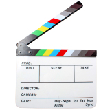 Who Sells Acrylic Clapboard Dry Erase Director Film Movie Clapper Board Slate 9 6 11 7 With Color Sticks Export