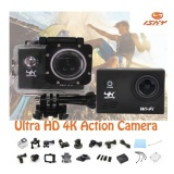 Sale Action Camera Ultra Hd 4K Wifi 1080P 60Fps 2 Lcd 170D Lens Helmet Cam Go Waterproof Camera Black Export Oem On Singapore