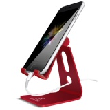 Adjustable Cell Phone Stand Lamicall Iphone Stand Update Version Cradle Dock Holder For Switch Iphone 7 6 6S Plus 5 5S 5C Charging Accessories Desk All Android Smartphone Red Lowest Price