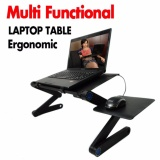 Sales Price Adjustable Laptop Stand With Built In Cooling Fans And Mouse Pad Tray Easy To Use Ergonomic Laptop Stand For Bed Couch And Table Portable And Lightweight Intl