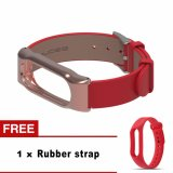 Sale Adjustable M I Band 2 Leather Strap With Metal Frame For M Iband 2 Version Smart Bracelet M I Band Accessories 4 Colors Intl Zomtop Wholesaler