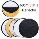 Recent Afaith 24 60Cm 5 In 1 Portable Collapsible Light Round Photography Reflector For Studio Multi Photo Disc Intl