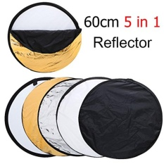 Low Cost Afaith 24 60Cm 5 In 1 Portable Collapsible Light Round Photography Reflector For Studio Multi Photo Disc Intl