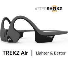 Sale Aftershokz Trekz Air Bluetooth Wireless Bone Conduction Headphone Headset Earpiece As650 Slate Grey Black Aftershokz On Singapore