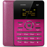 Great Deal Aiek Q1 1 Inch Ultra Thin Card Phone Audio Player Sound Recorder Rose Int L