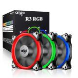 Sale Aigo R3 3 Pack Rgb Led 120Mm Adjustable Color Case Radiator Fan Quiet Edition High Airflow Adjustable Color Led Case Fan For Computer Cases Cpu Coolers And Radiators On Singapore