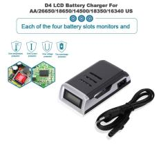 Purchase Allwin New C905W 4 Slots Lcd Display Smart Intelligent Aa Aaa Battery Charger Black Intl Intl Online