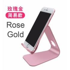 How To Buy Aluminium Alloy Handphone Smartphone Table Stand Holder Rose Gold