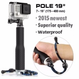 Best Reviews Of Aluminum Waterproof Selfie Stick Pole Monopod Extendable Up To 48Cm For Gopro Hero 1 2 3 3 4 5 Black Silver Session Sjcam Sj4000 Sj5000 Xiaomi Xiaoyi Yi Hd 4K 4K Plus Action Camera