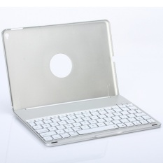 Wholesale Aluminum Wireless Bluetooth Keyboard F8 Case Cover For Ipad Air2 Silver