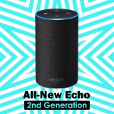 Amazon Echo 2Nd Generation With Improved Sound Powered By Dolby And A New Design Charcoal Fabric Intl In Stock