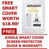 Great Deal Geekbite Amazon Kindle 8Th Gen White Kindle Smart Cover Screen Protector Wifi Special Offers