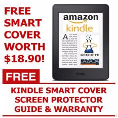 GeekBite Amazon Kindle Paperwhite 300 PPI Black + Kindle Smart Cover + Screen Protector (Wifi/Special Offers)