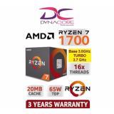 Price Amd Ryzen 7 1700 Cpu 3 Ghz Base 3 7 Ghz Precision Boost Amd Online