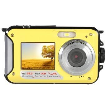 Buy Amkov 24Mp 16X Digital Zoom Digital Camera Camcorder Video Recorder Waterproof Yellow Export On Hong Kong Sar China
