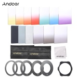 Compare Price Andoer 13Pcs Square Gradient Full Color Filter Bundle Kit For Cokin P Series With Filter Holder Adapter Ring 52Mm 58Mm 62Mm 67Mm 72Mm Storage Bag Cleaning Cloth Intl On Singapore